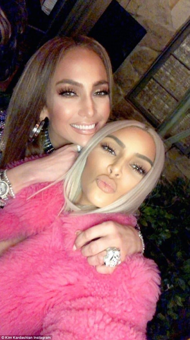 Pucker up! The reality star got a pouty selfie with the singer, dancer, and actress