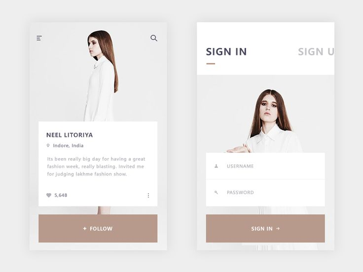 sign in + another user profile (E-commerce app) by Prakhar Neel Sharma