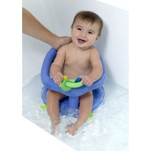 This seat helps to secure the baby in the bath and lets them be free to experience being in the whole bath.