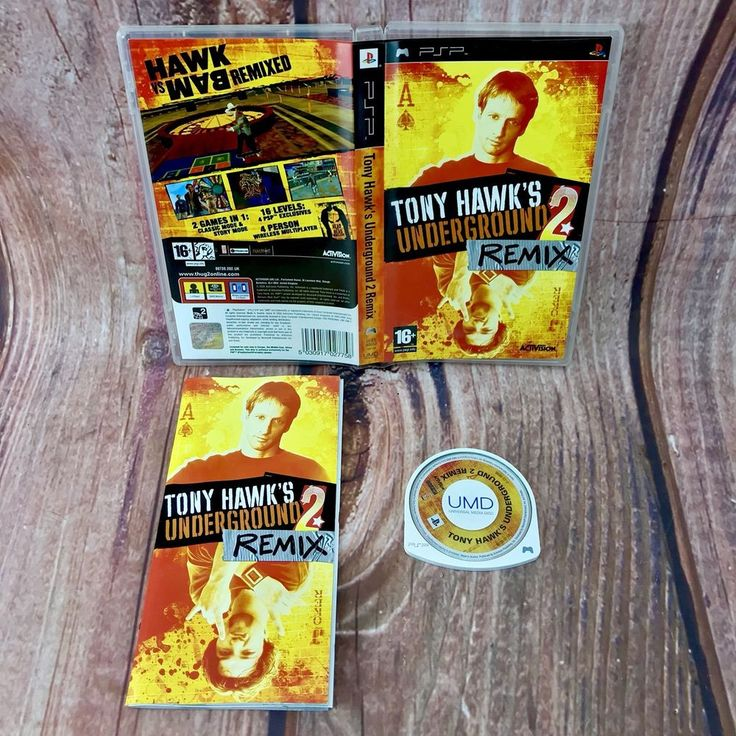 Sony PSP TONY HAWK'S UNDERGROUND 2 REMIX Activision Video Game pal multiplayer