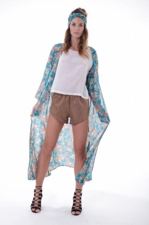 Rosa Kimono Jacket - Blue