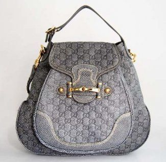 Gucci Guccissima Leather Shoulder Bag 223955 Gray