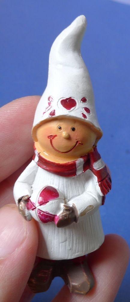Vintage Sweden Christmas Decor Dwarf Tomte Gnome Elf Miniature Figurine santa