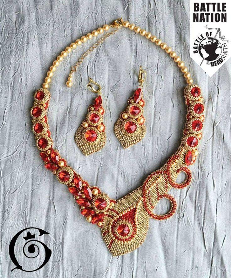 Best beadwork rivoli images on pinterest pendants