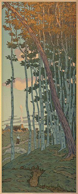 Henri Rivière — The Last Ray, 1902 (lithograph)