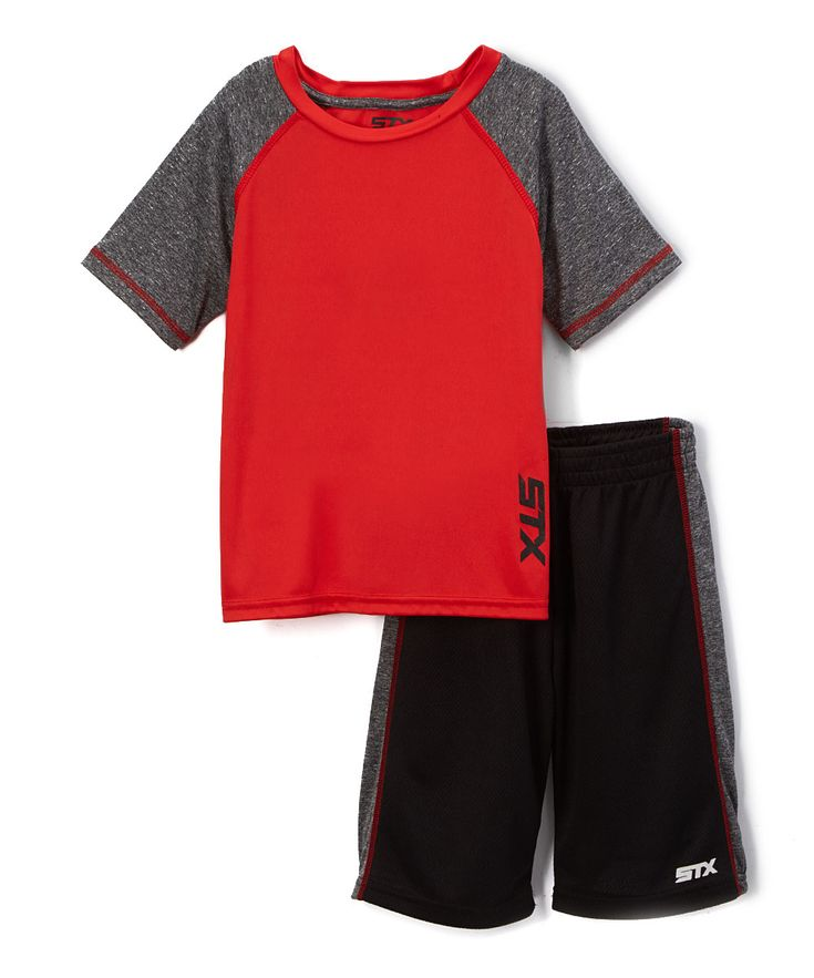 Engine Red & Gray Tee & Shorts - Toddler & Boys