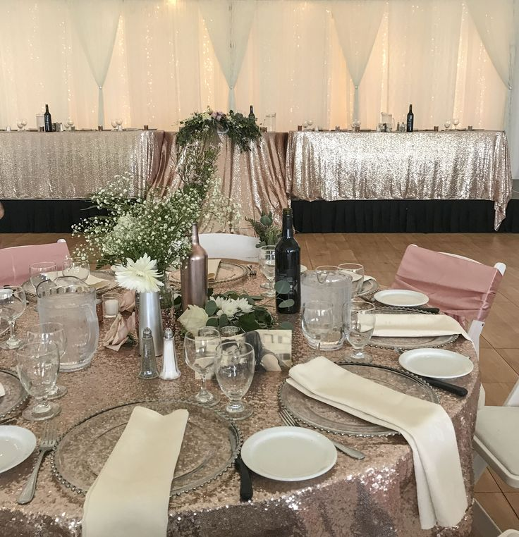 Rose Gold Elegance at the Norland  #lachefs #lachefsdecor #thenorland #thenorlandhistoricestate #decor #weddingdecor #weddingtent #tentwedding #weddingreception #balloons #cafelights #cafelighting #sequins #rosegold #rosegoldsequins #headtable #backdrop #twinklelights #guesttables