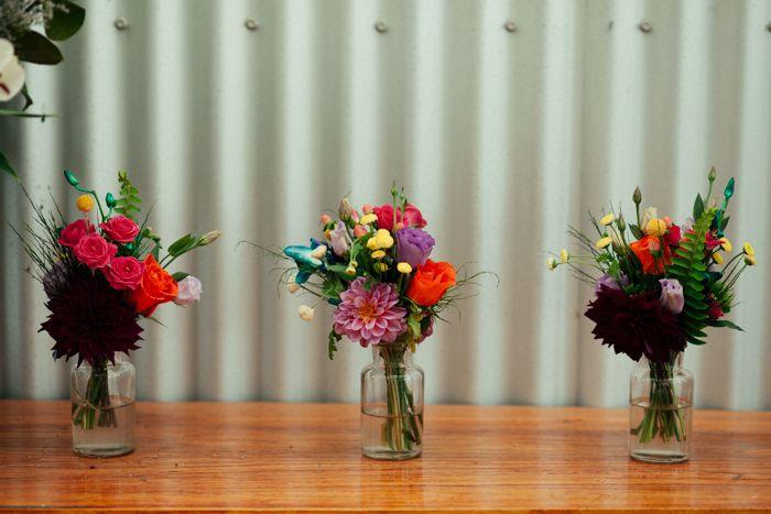 Floral arrangements captured by Sarah Godenzi @ Yarra Ranges Estate