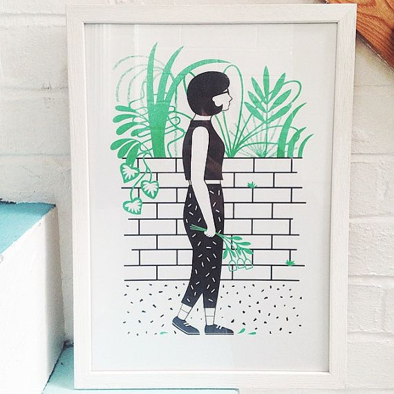 Hey, I found this really awesome Etsy listing at https://www.etsy.com/listing/229029959/a3-girl-with-flowers-print