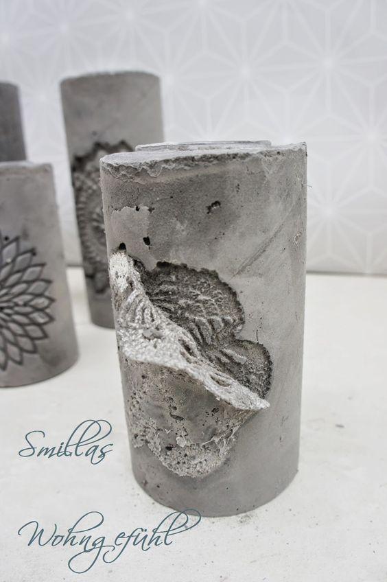 Smillas Wohngefьhl: DIY: concrete candle holder / Kerzenstдnder aus Zement: