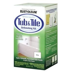 Rust-Oleum 1 qt. White Tub and Tile Refinishing KitRust Oleum Specialty, Tile Refinishing, Ideas, Rustoleum, Tubs Tile, House, Bathroom, Diy, Refinishing Kits