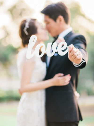 Love sign: http://www.stylemepretty.com/2015/02/11/romantic-pink-on-pink-california-wedding/ | Photography: Honey Honey - http://www.hoooney.com/