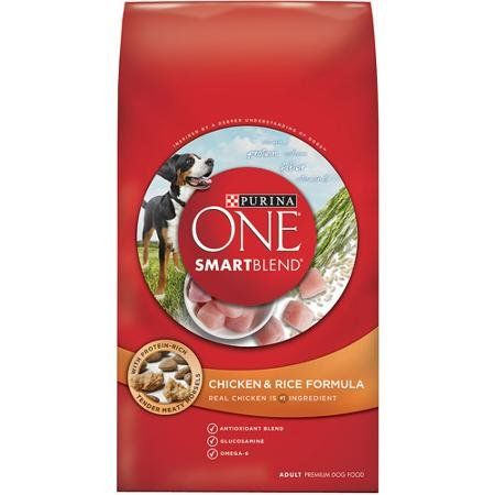 Purina ONE Smartblend 311 lb Bag of Dry Premium Dog Food Chicken and Rice Formula Dual Defense Antioxidant Blend Works Inside  Out 100 Complete Diet Healthy Difference  Strong Immune System >>> Details can be found by clicking on the image.