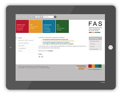 """Check out new work on my @Behance portfolio: """"FAS - Action sociale neuchâteloise"""" http://on.be.net/1MSOEDg"""