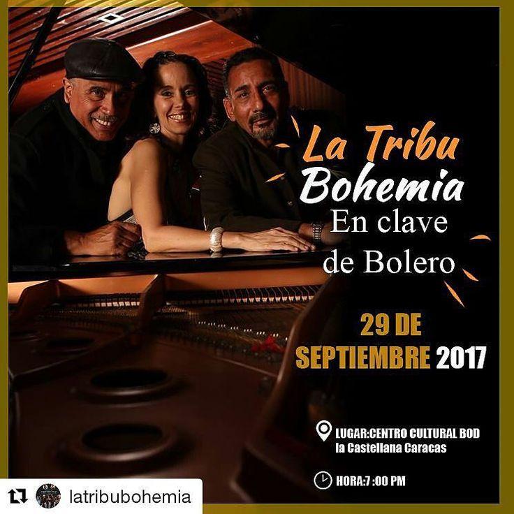 #Repost @latribubohemia (@get_repost)  En tan sólo 7 días estaremos presentando nuestra historia musical #EnClaveDeBolero en la sala de conciertos del Centro Cultural BOD este 29 de septiembre a partir de las 7:00 PM.  Acompáñanos en este maravilloso  celebrando el #DíaDeLaSecretaria con Tragos Rumba La Fiesta y Gozadera y donde estaremos grabando en vivo nuestro disco La Tribu Bohemia en Clave de Bolero junto a grandes músicos cantantes de salsa y artistas. Estaremos presentes las estrellas…