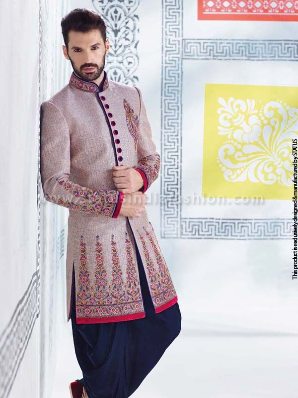 #Wedding sherwani #decent sherwani #stylish sherwani #indian wedding wear #linen sherwani #designer sherwani #sherwani collection www.statusindiafashion.com