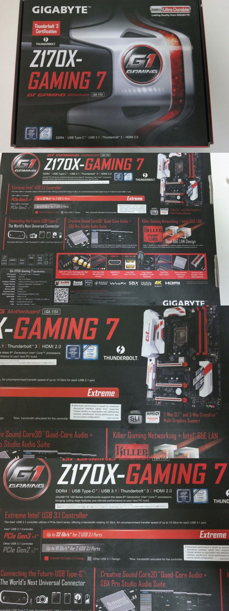 computer parts: Gigabyte Technology Ga-Z170x-Gaming 7, Lga 1151, Intel Motherboard BUY IT NOW ONLY: $169.0
