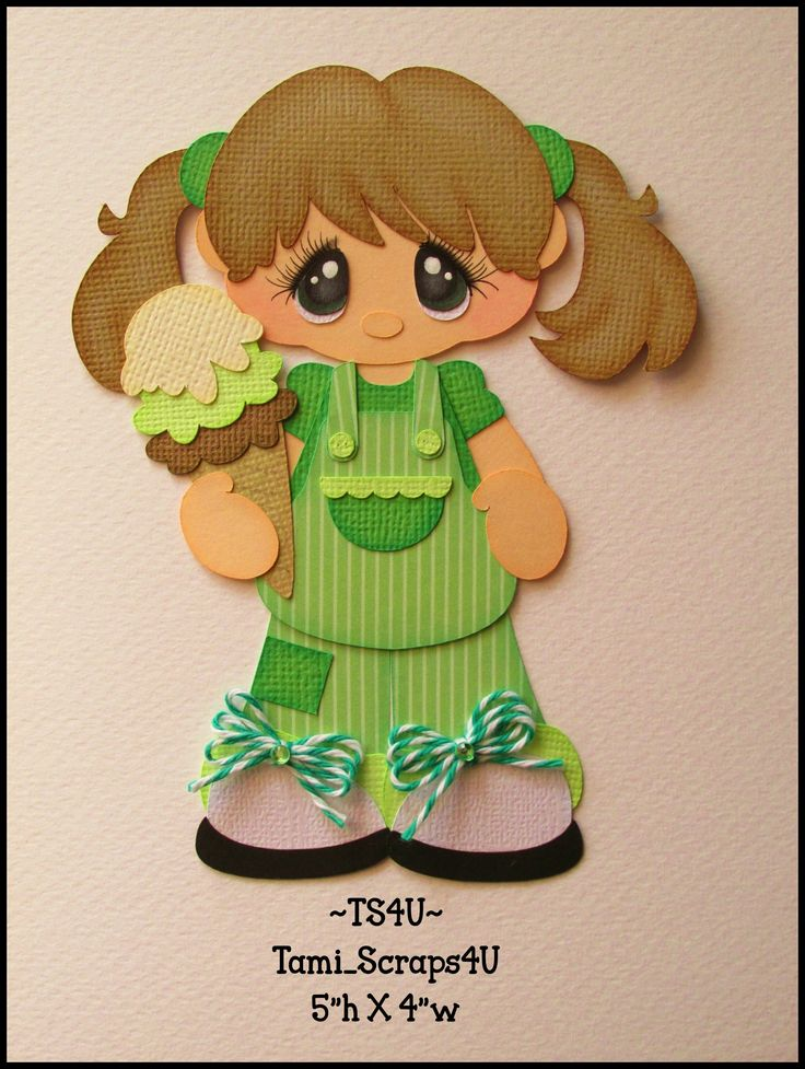 Girl in Green with Ice Cream