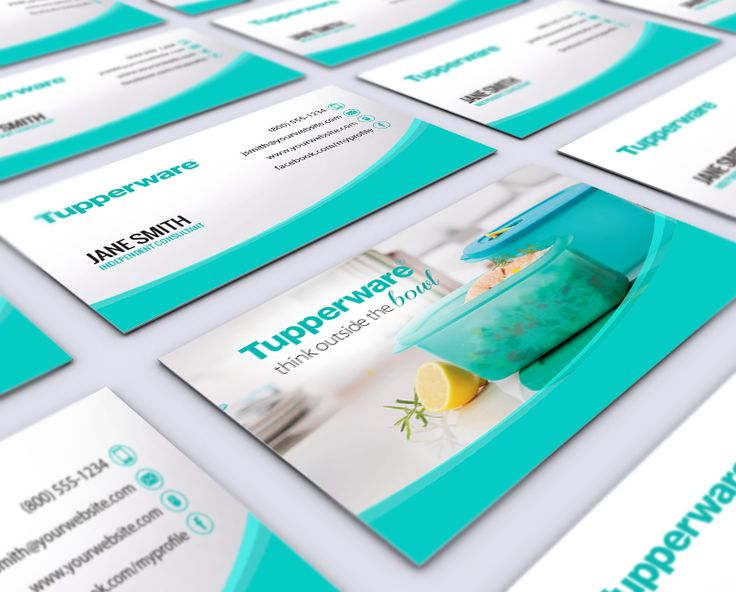 Tupperware Business Cards (With images) Free business