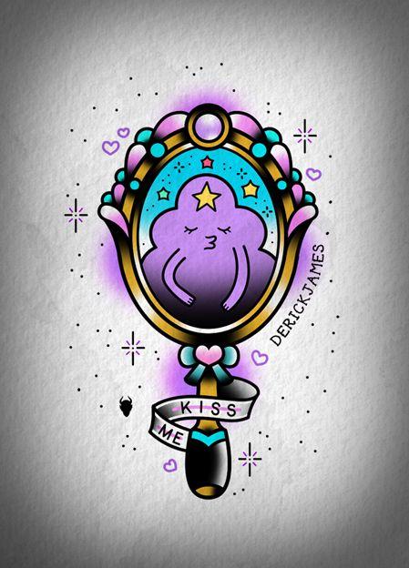 Tatuagem da Princesa Caroço de Hora de Aventura.