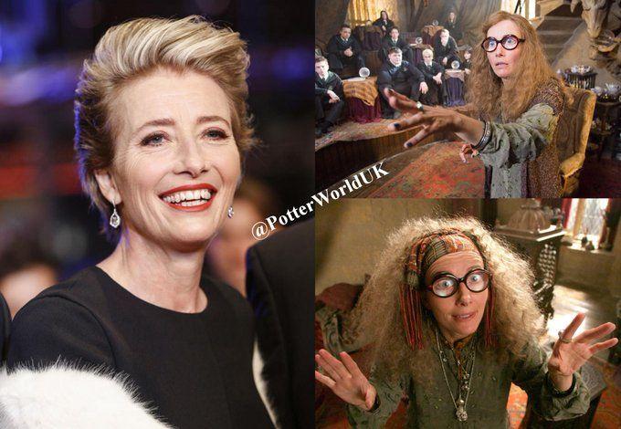 Happy 59th Birthday Emma Thompson She Played Trelawney In The Harry Potter Films Happybirthdayemmathom Emma Thompson Harry Potter Films Happy 59th Birthday