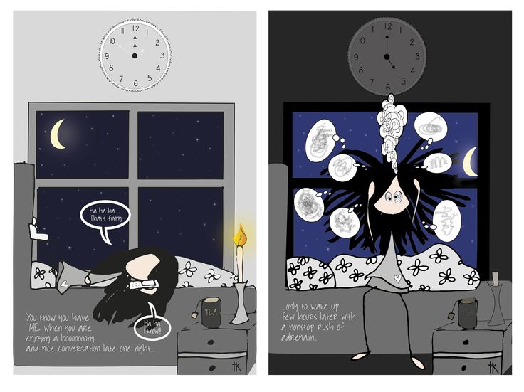 Illustration: © Trine Kvalnes  An illustration about ME/CFS (Chronic fatigue syndrom)  Follow me at: facebook.com/bittelita