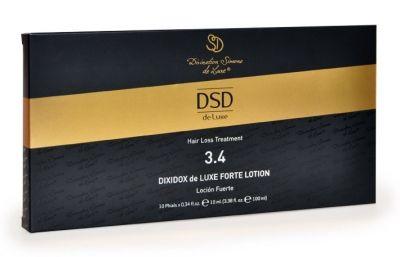 ДИКСИДОКС ДЕ ЛЮКС ФОРТЕ ЛОСЬОН № 3.4 DIXIDOX DELUXE FORTE LOTION Диксидокс форте лосьон предназначен для снижения выпадения волос и стимуляции их роста.