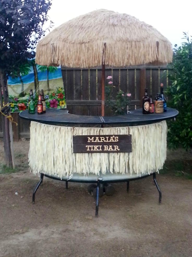 diy tiki bar for your backyard outside the home pinterest