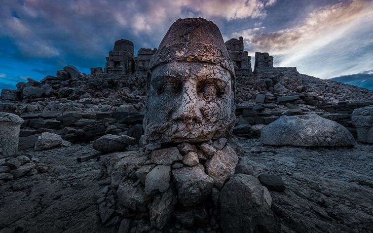 Check out the impressive and mysterious Mount Nemrut in #Turkey!! #travel
