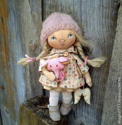 Ангелочек ГОРОШИНКА - ангел,тыквоголовая кукла,тыковка,подарок,лен,хлопок