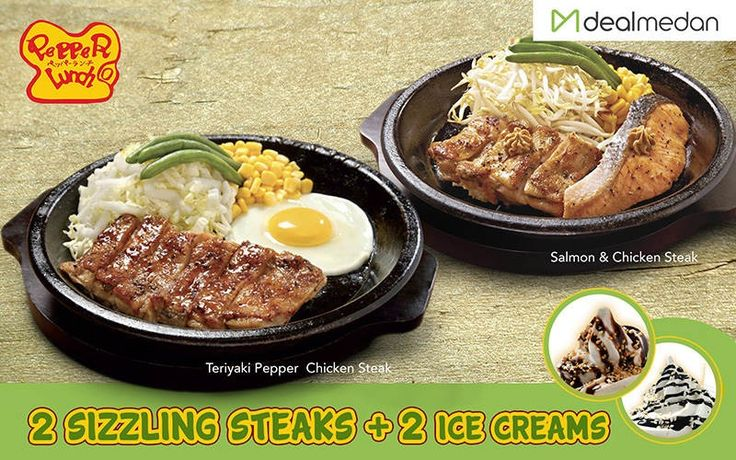 Pepper Lunch Deal! 2 Main Course + 2 Ice Creams. Only IDR 99,000   For Order: www.dealmedan.com