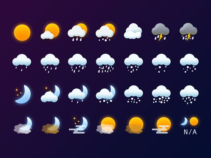 Dribbble - Weather Icons by Sky