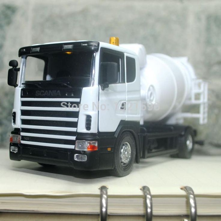 1/43 Scale Truck Model Toys Sweden Scania Cement Mixer Diecast Metal Car Toy New In Box For Gift/Kids