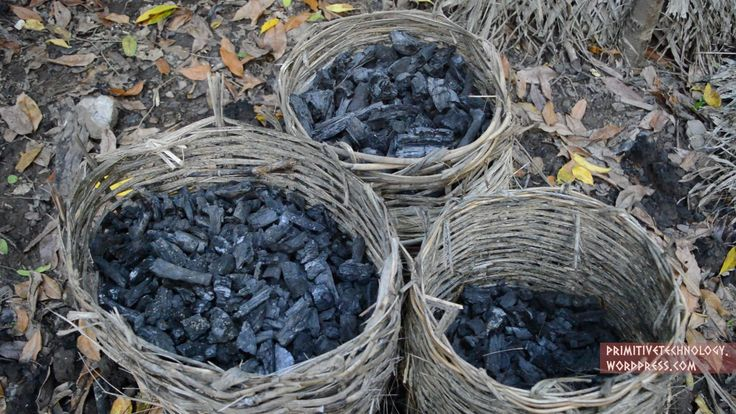 A Simple Way To Make Charcoal Using The Mound Method