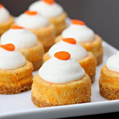Mini Carrot Cheesecakes >> Yum!