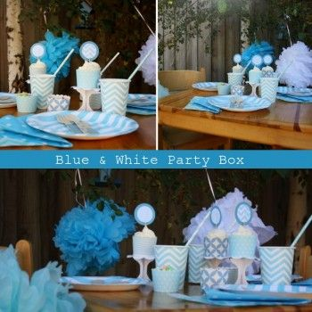 Blue & White Party Box