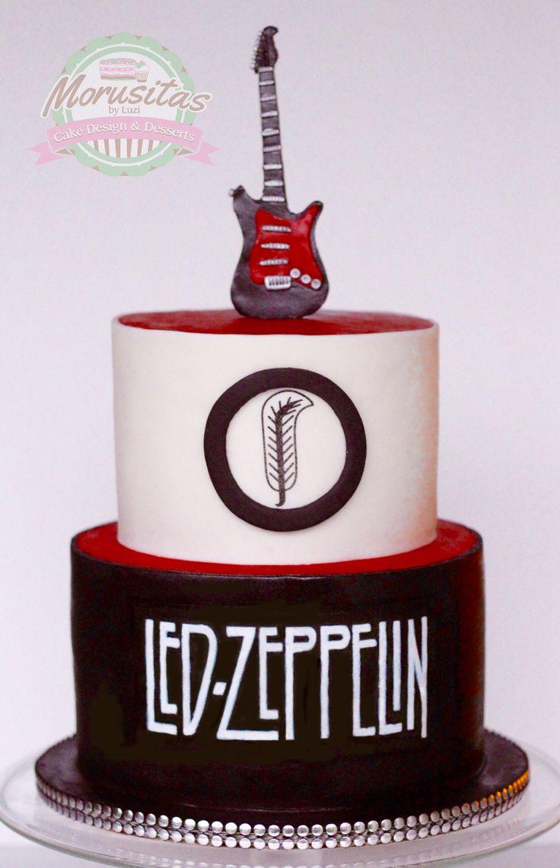 Led Zeppelin Cake Idea For Those Rockers M Ledzeppelincake Rockercake Rock Pinterest