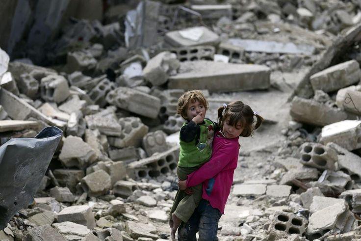 Niños en Damasco, Siria