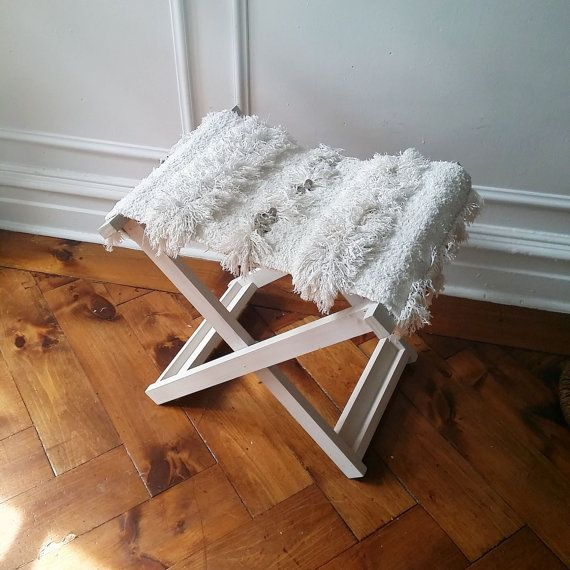 X-bench // Solid wood folding x-bench with Moroccan by viaMelinda