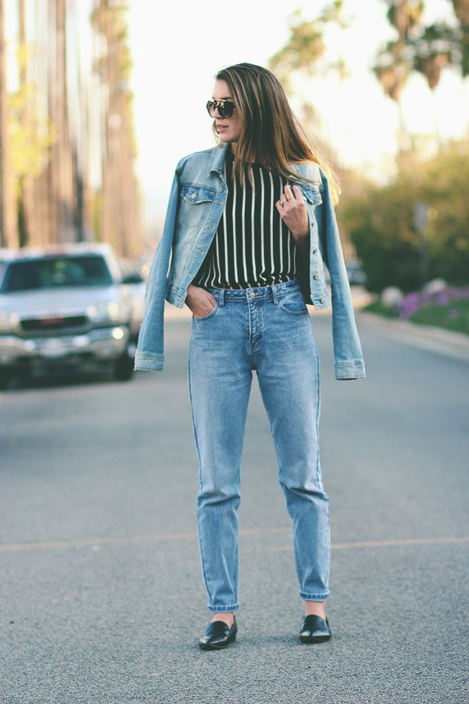 I don't think I can ever have too much denim. #target #denim #jacket #forever21 #top #zara #jeans #jeffreycampbell #loafers #sunglasses #thriftsandthreads