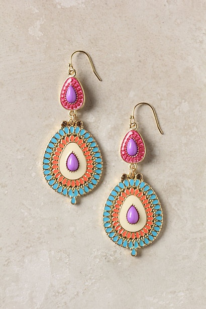 these feel so summer to me.  I love the colors! Mezzanine Earrings - Anthropologie.com