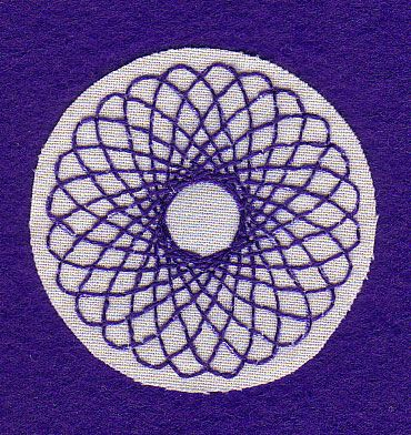 embroidered spirograph