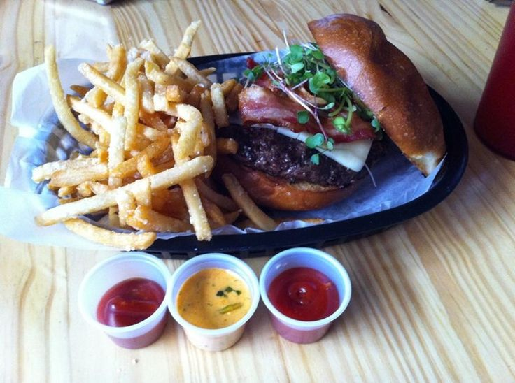 """The Burger Stand at the Casbah, Lawrence """"Truffle fries, POUTINE STYLE. and the kobe burger. YUM. THE SAUCES. ALL OF THE SAUCES."""" - Foursquare user Paige C."""