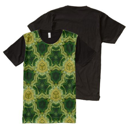 yellow abstract pattern All-Over-Print T-Shirt - click/tap to personalize and buy