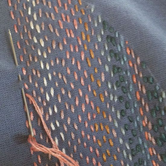 sashiko, forsting, running stitch
