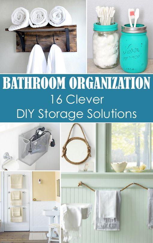 Small Bathrooms Diy Storage And Bathroom Organization On Pinterest