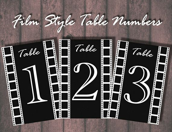 Movie/Theater Table Numbers  Digital Download or by BowersInk, $18.00