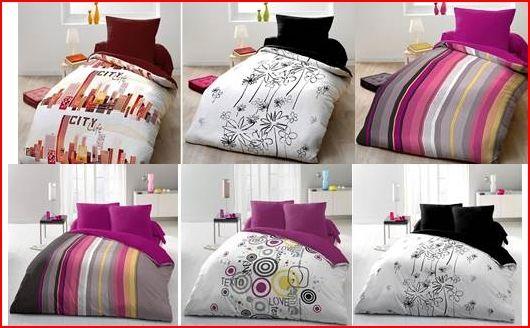 des parures de lit couettes draps housse de toutes les dimensions et aux divers coloris qui. Black Bedroom Furniture Sets. Home Design Ideas