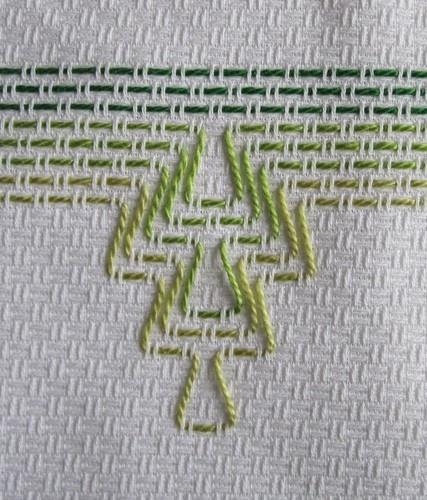 Asciugamani ricamati Huck Weaving - punto filza