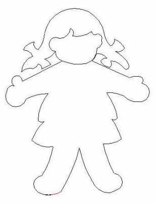 Doll pattern for Dorcas lesson: kids draw faces and